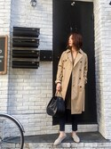 TOMOMI KANATAさんの「トレンチコート(TODAYFUL トゥデイフル)」を使ったコーディネート
