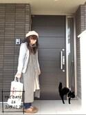 miiitomiiiさんの「カラー8枚接ぎベレー帽(studio CLIP|スタディオクリップ)」を使ったコーディネート