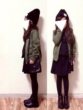 cyamu(͒⑅′࿉‵⑅)͒ෆ*さんのTシャツ/カットソー「■■■フリル プルオーバー(green label relaxing|グリーンレーベルリラクシング)」を使ったコーディネート