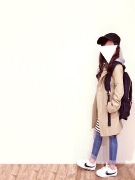 cyamu(͒⑅′࿉‵⑅)͒ෆ*さんの「ナイロンZIPバックパック/リュック【PLAIN CLOTHING】(PLAIN CLOTHING|プレーンクロージング)」を使ったコーディネート