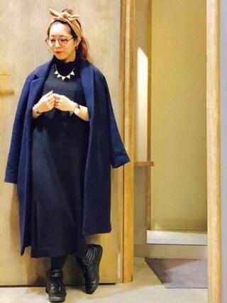 Ms.ガチャ子さんの「WEGO/コンビボストンタイプメガネ(WEGO|ウィゴー)」を使ったコーディネート