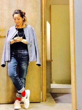 Ms.ガチャ子☺︎さんの(靴下屋|クツシタヤ)を使ったコーディネート