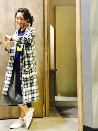 Ms.ガチャ子☺︎さんの「【CONVERSE】ALLSTAR OX(CONVERSE|コンバース)」を使ったコーディネート