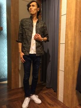 Suguru Yoshizakiさんの(NICOLE CLUB FOR MEN|ニコルクラブフォーメン)を使ったコーディネート