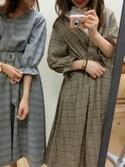 おそのさんの「カシュクール共ベルトワンピース(natural couture|ジーユー)」を使ったコーディネート