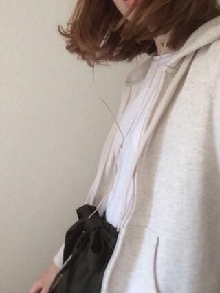 maさんの「WOMEN スウェットフルジップパーカ(長袖)(ユニクロ|ユニクロ)」を使ったコーディネート