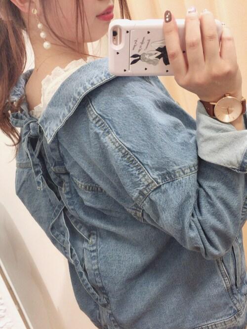 miura kanamiさんの「バックレースアップGジャン(natural couture)」を使ったコーディネート
