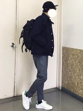 れぽすけさんの(adidas|アディダス)を使ったコーディネート