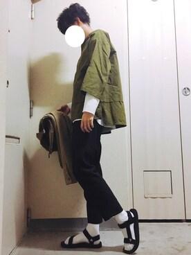れぽすけさんの「SP ワッフルレイヤード ロングサーマル 【2017春夏】(FREAK'S STORE|フリークスストア)」を使ったコーディネート