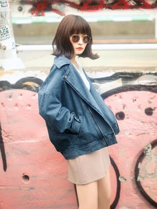 「台形スカート(GRL)」 using this GRL|GRLグレイル_OFFICIAL looks