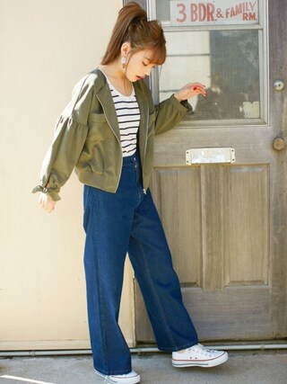 「ベーシックTシャツ(GRL)」 using this GRL|GRLグレイル_OFFICIAL looks