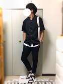 Yuuya.さんの「イージーアンクルパンツ(ウールライク)(ユニクロ ユニクロ)」を使ったコーディネート