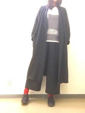 千夜さんの「ブロッキングニットプルオーバー(HARE)(HARE)」を使ったコーディネート