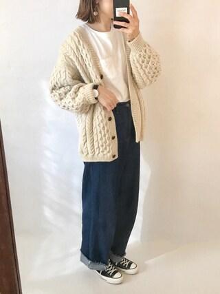 「10oz 5PK ワイドデニム_#(JOURNAL STANDARD relume)」 using this san looks