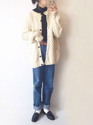 「illi ワイドリブタートル(KBF)」 using this san looks
