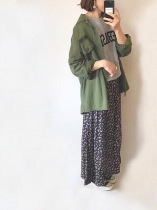 「花柄マキシワンピース(Kastane)」 using this san looks
