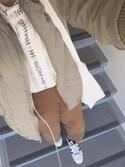 megさんの「プラント刺繍プルオーバー5962(merlot|メルロー)」を使ったコーディネート