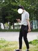 「ドライコンフォートシャツカラーポロシャツ(小襟・半袖)(ユニクロ)」 using this まひろ looks