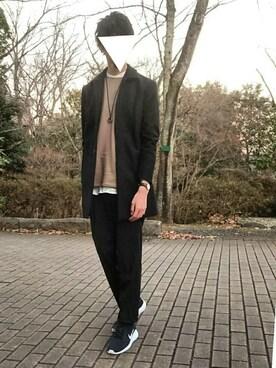 ろーろーさんの「【WEB限定】 STUDIOUS カシミヤメルトンステンカラーコート- made in japan -(STUDIOUS)」を使ったコーディネート