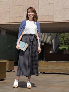 NATURAL BEAUTY BASIC|NBB STAFF17さんの「【and GIRL6月号掲載】【JJ_5月号掲載】ウェッジコルクミュール(NATURAL BEAUTY BASIC)」を使ったコーディネート