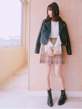 nana.ななさんの「《Instagramまいまい着用アイテム》フロントピンタック袖刺繍ブラウス(31 Sons de mode)」を使ったコーディネート