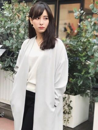 瀬戸晴加さんの「≪予約≫ノーカラージャケット(FEMIND TOKYO フェマイントウキョウ)」を使ったコーディネート