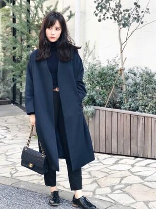 瀬戸晴加さんの「≪予約≫ノーカラージャケット(FEMIND TOKYO|フェマイントウキョウ)」を使ったコーディネート