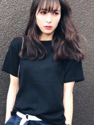 瀬戸晴加さんの「≪予約≫タックワイドパンツ(FEMIND TOKYO|フェマイントウキョウ)」を使ったコーディネート