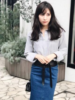 「ベーシックシャツ(FEMIND TOKYO)」 using this 瀬戸晴加 looks