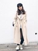 瀬戸晴加さんの「ベーシックキャスケット2(FEMIND TOKYO|フェマイントウキョウ)」を使ったコーディネート