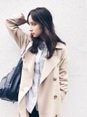 瀬戸晴加さんの「ピーチトレンチコート(UNRELISH|アンレリッシュ)」を使ったコーディネート