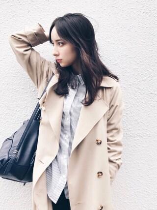 瀬戸晴加さんの「ベーシックシャツ(FEMIND TOKYO|フェマイントウキョウ)」を使ったコーディネート
