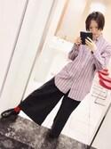 勢賀藍貴さんの「靴下屋/ コットンブレンド無地ショートソックス(靴下屋|クツシタヤ)」を使ったコーディネート