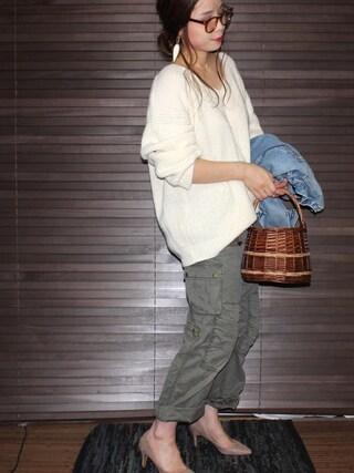 yuniさんの「【SELECTED FOR PLAIN CLOTHING】スエードポインテッドトゥヒールパンプス(PLAIN CLOTHING|プレーンクロージング)」を使ったコーディネート