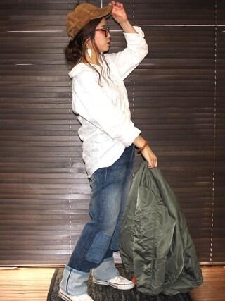 yuniさんの「LEVI'S VINTAGE CLOTHING 501XX 1947モデル デニムパンツ(LEVI'S VINTAGE CLOTHING|リーバイス・ビンテージ・クロージング)」を使ったコーディネート