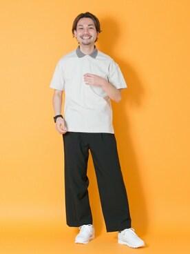 アーバンリサーチ 金沢百番街Rinto店|東浦さんのポロシャツ「UR ポンチルーズポロシャツ(URBAN RESEARCH|アーバンリサーチ)」を使ったコーディネート