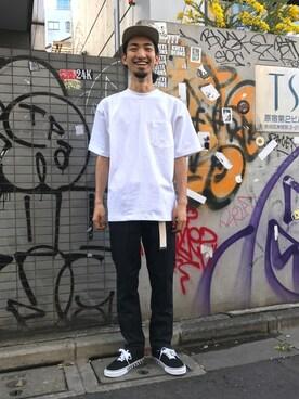 FREAKS STORE 横浜店|IIIZUMIさんのTシャツ/カットソー「CAMBER/キャンバー 8oz MAX WEIGHT Tシャツ(FREAK'S STORE|フリークスストア)」を使ったコーディネート