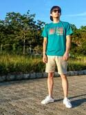 RYUSO_さんの「adidas アディダス STAN SMITH スタンスミス M20325 R.WHITE/R.WHITE/NEW.NAVY(ホワイト×ネイビー)(adidas|アディダス)」を使ったコーディネート