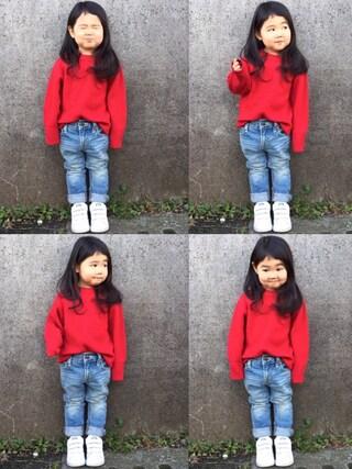 hanamen♡さんの「ハイネックリブセーター (XS~L)(BIG FIELD|ビッグフィールド)」を使ったコーディネート