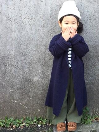 hanamen♡さんの「ARTEX WATCH CAP(COMECHATTO&CLOSET|カムチャットアンドクロゼット)」を使ったコーディネート