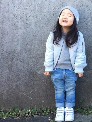 hanamen♡さんの「FORK&SPOON ニットキャップ(URBAN RESEARCH DOORS|アーバンリサーチドアーズ)」を使ったコーディネート