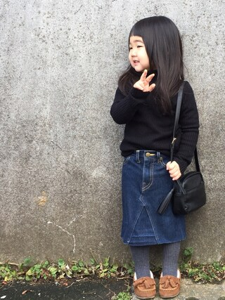 hanamen♡さんの「無地タートルネックニット(RUGGEDWORKS|ラゲッドワークス)」を使ったコーディネート