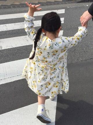 hanamen♡さんの「【ママとお揃い】フラワー2WAYワンピース(CIAOPANIC TYPY|チャオパニックティピー)」を使ったコーディネート