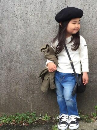 hanamen♡さんの「ビーミング by ビームス / コットンサーモベレー帽<KIDS>(B:MING by BEAMS|ビーミング バイ ビームス)」を使ったコーディネート