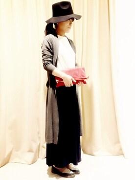 actuel アクア広島店|takakoさんの「ストレッチワイドパンツ(actuel)」を使ったコーディネート