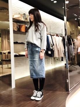 actuel アクア広島店|takakoさんの「【CONVERSE/コンバース】CANVAS ALLSTAR J HI:オールスターハイカット(CONVERSE)」を使ったコーディネート