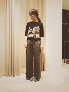 actuel アクア広島店|takakoさんの「花柄ビスチェ風トップス(INTERPLANET)」を使ったコーディネート