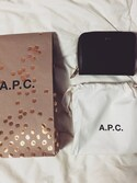 mmtusさんの「PORTEFEUILLE COMPACT 17PC(A.P.C.|アー・ペー・セー)」を使ったコーディネート
