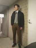 chanNao さんの「TAGLIATORE / ハウンドトゥース ダブル ジレ(TAGLIATORE|タリアトーレ)」を使ったコーディネート