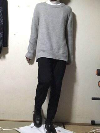 「WEGO/モヘヤブレンドクルーニット(WEGO)」 using this りゅう looks